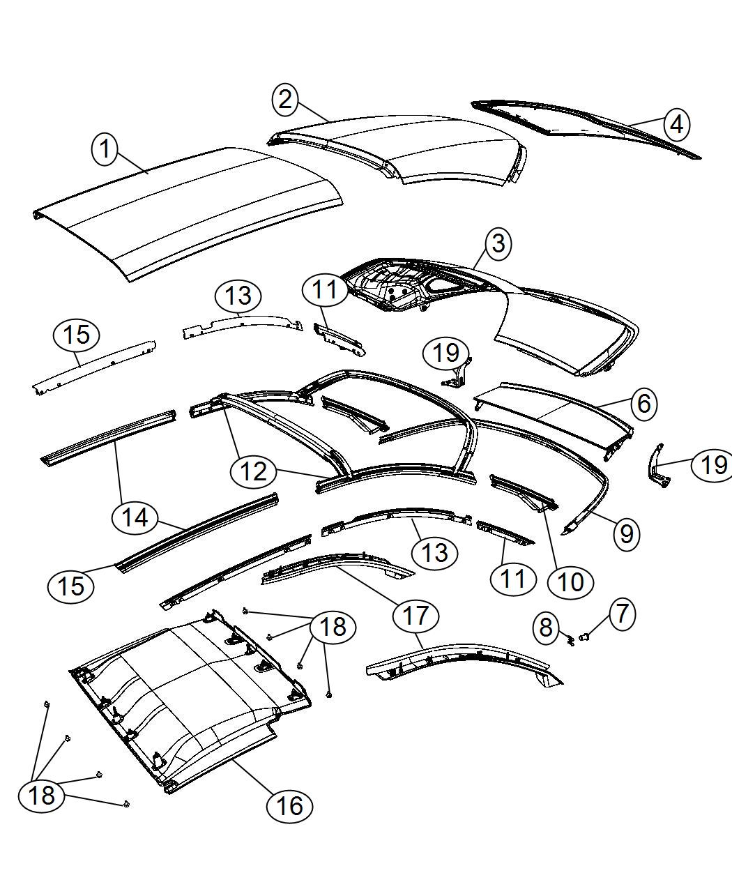 Chrysler 200 Panel Folding Top After 1 25 08 Vro