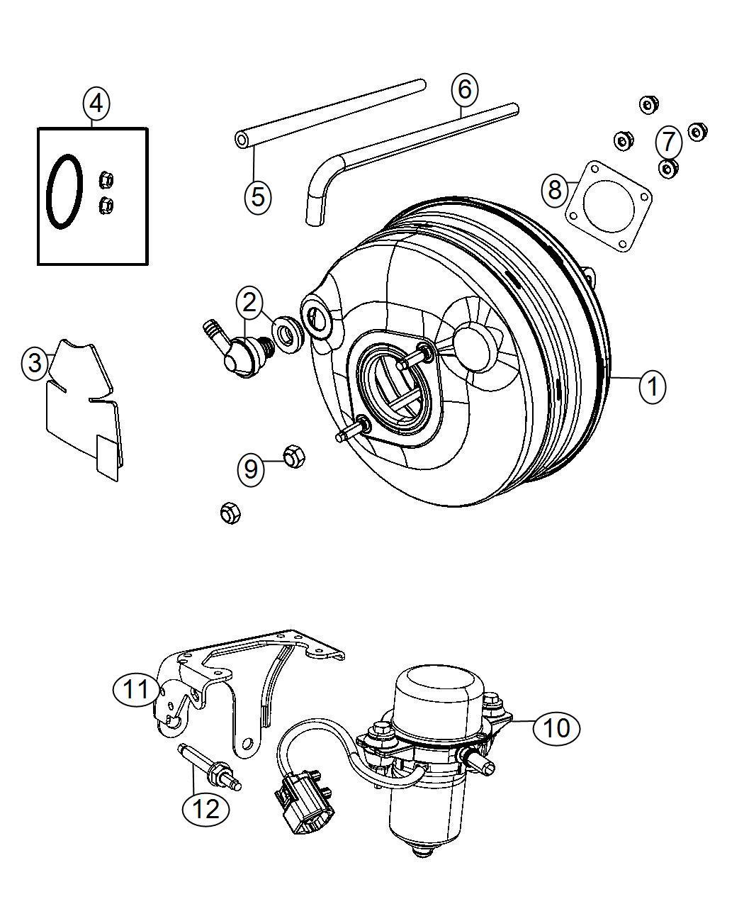 Ram C V Bracket Vacuum Pump