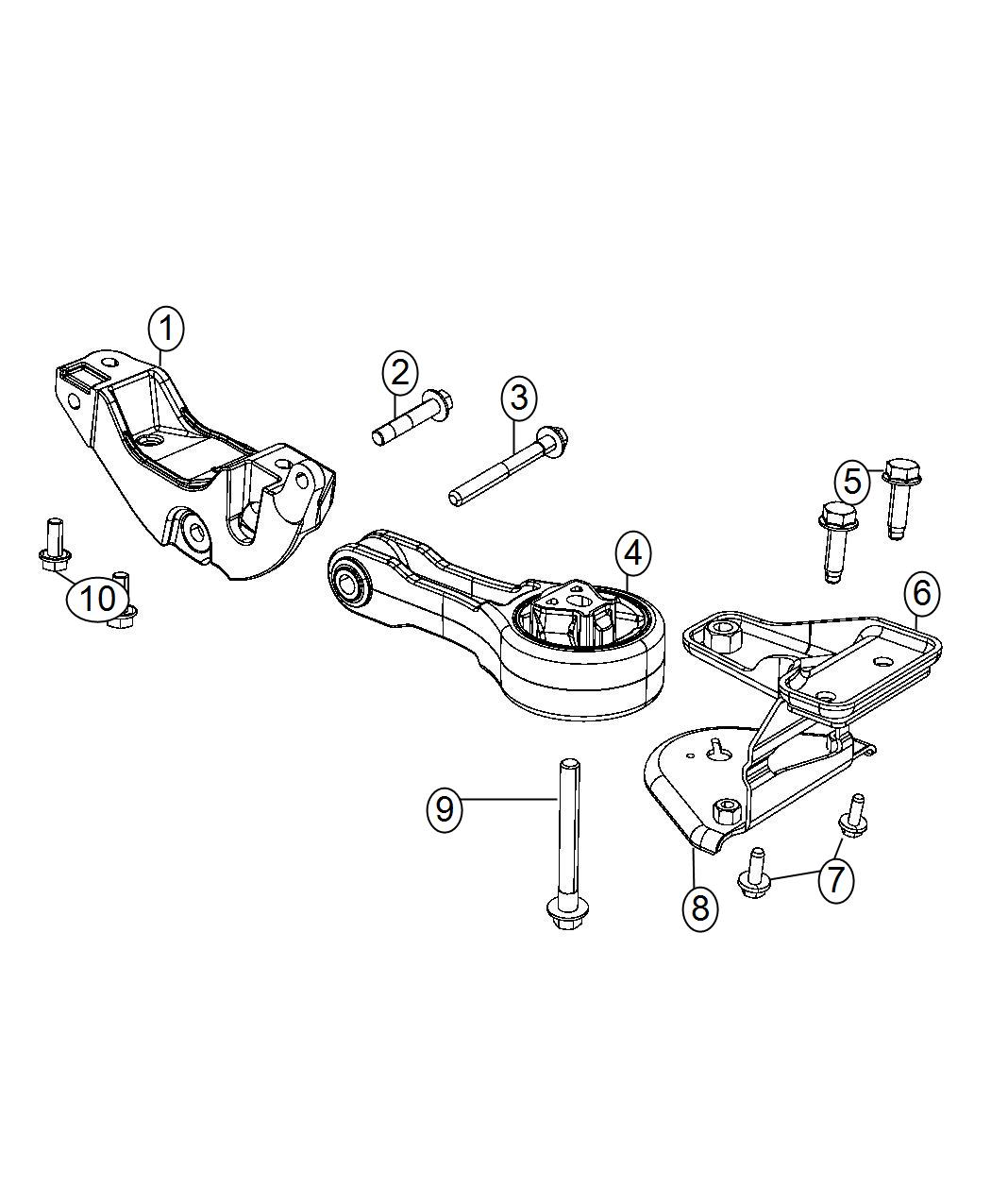 Chrysler 200 Engine Mount Rear