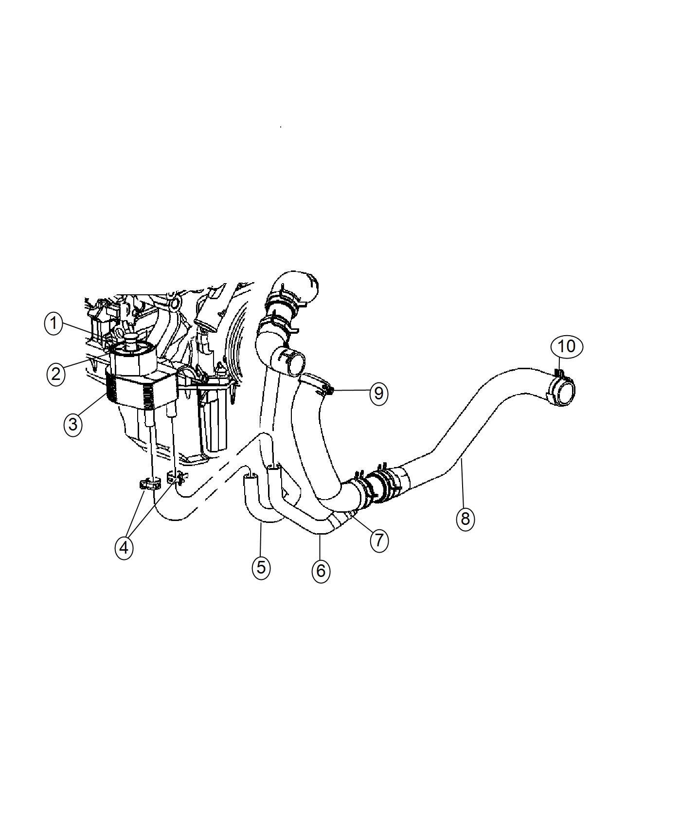 Dodge Charger Hose Engine Coolant To Oil Cooler
