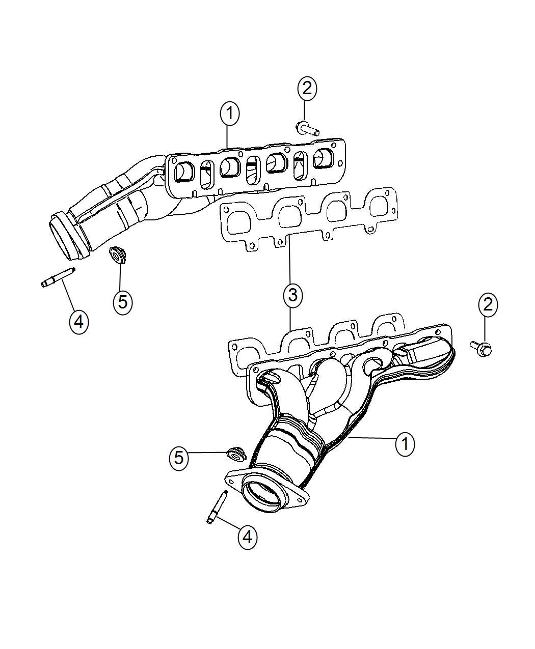 Dodge Challenger Manifold Exhaust Left Side