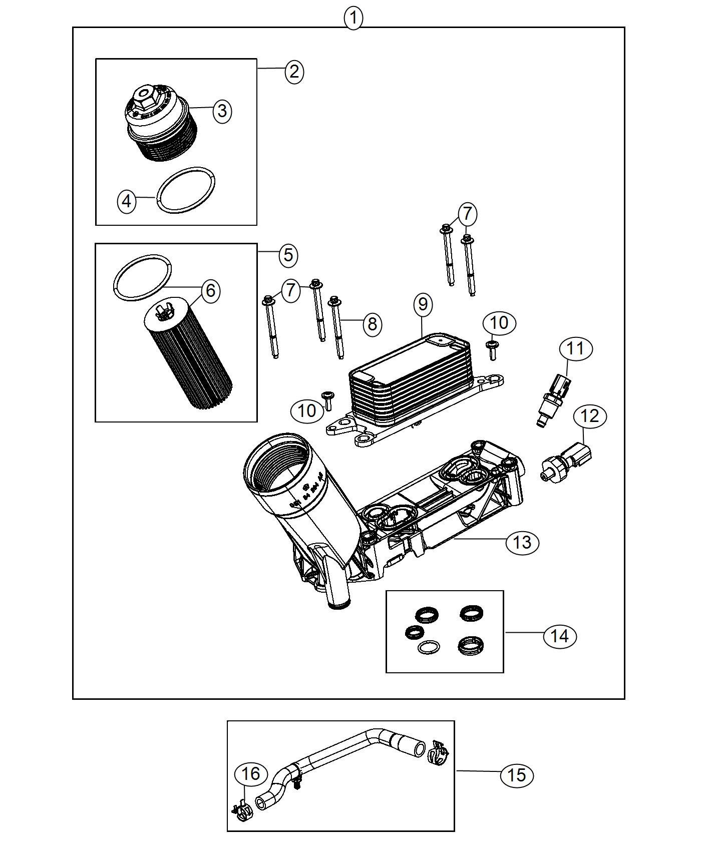 Chrysler Pacifica Sensor Fluid Temperature Oil Temp