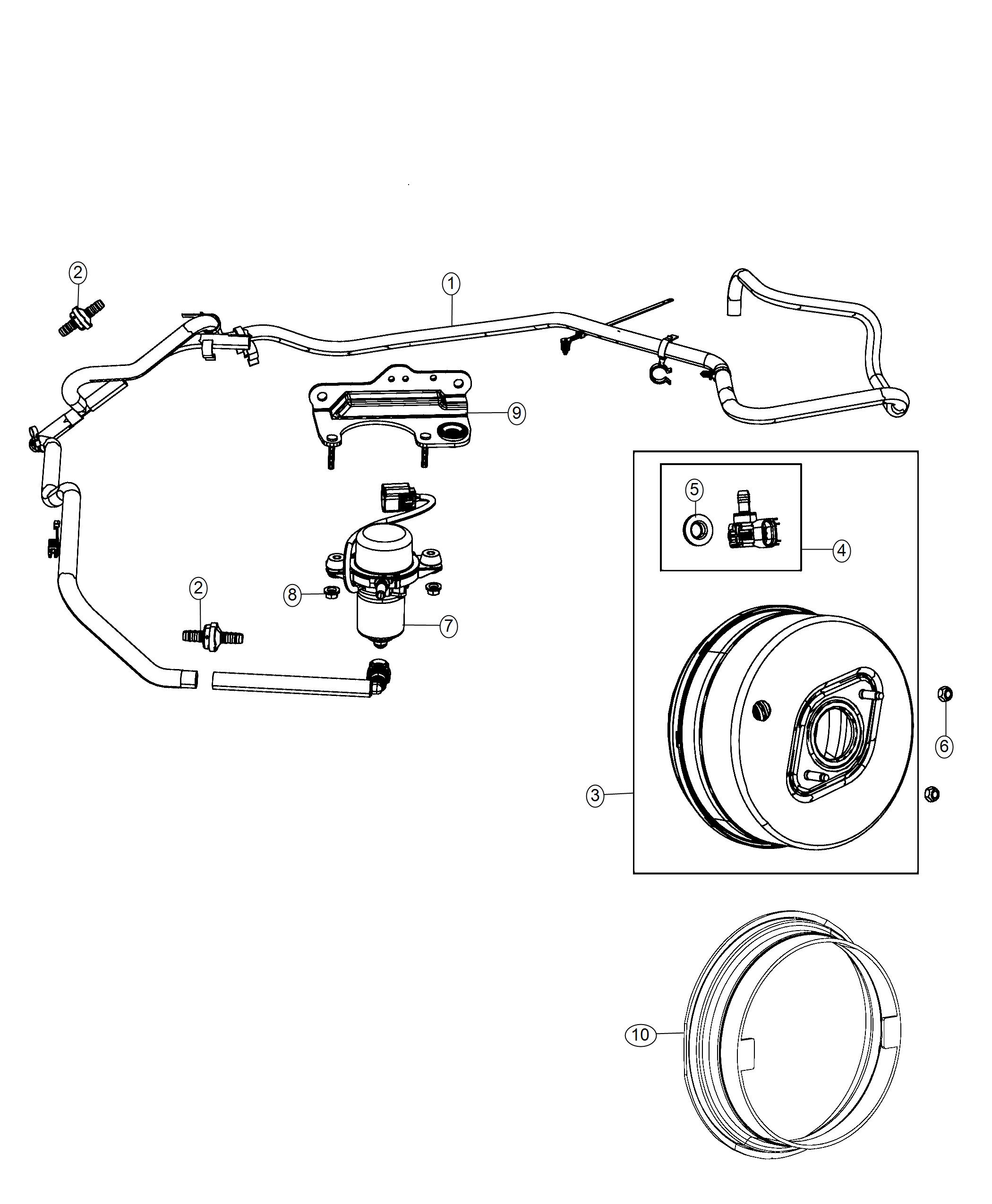 Jeep Grand Cherokee Pump Air Includes Bracket
