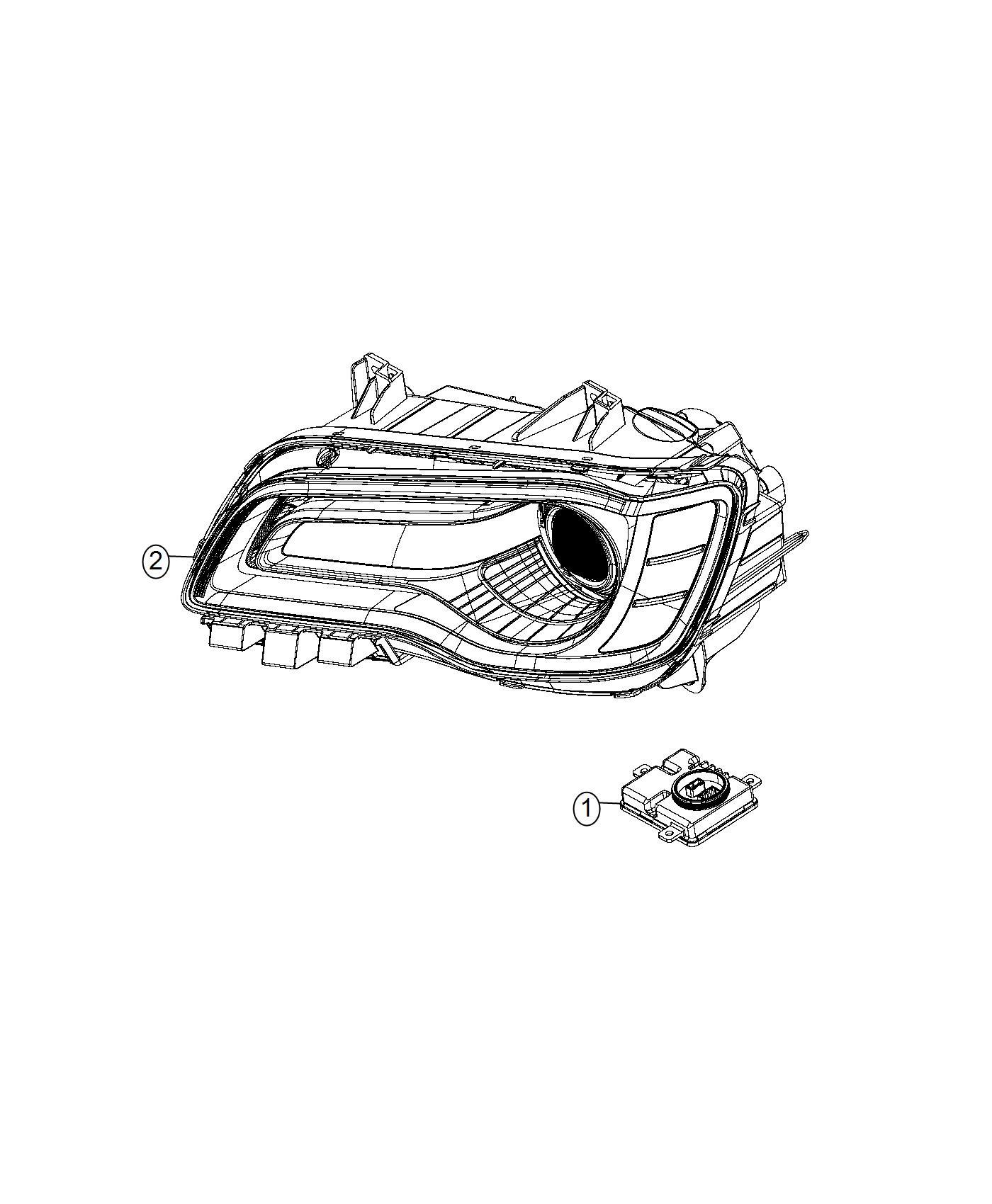 Chrysler 300 Module Hid Ballast Export Left Right