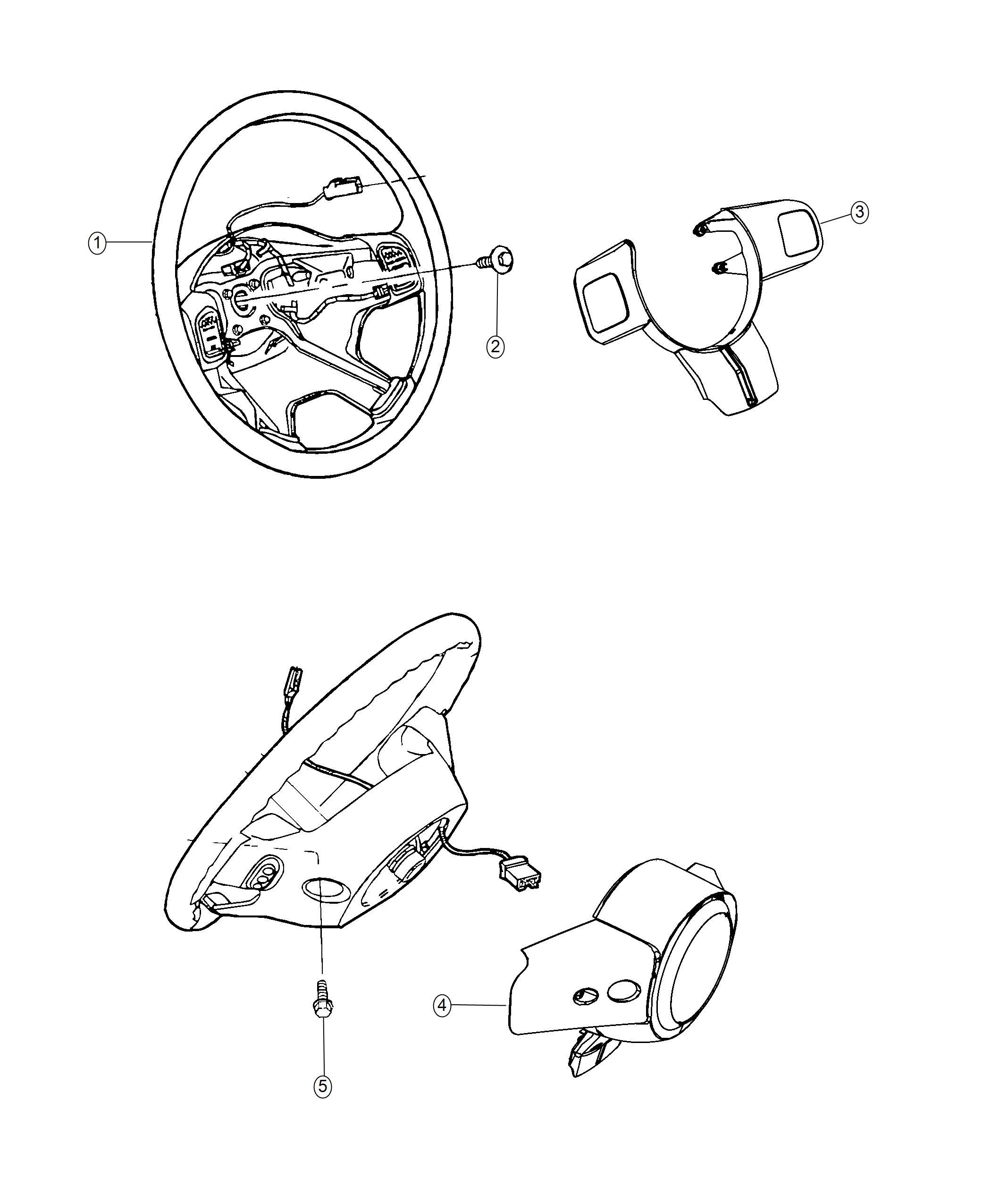 Jeep Wrangler Wheel Steering Trim No Description