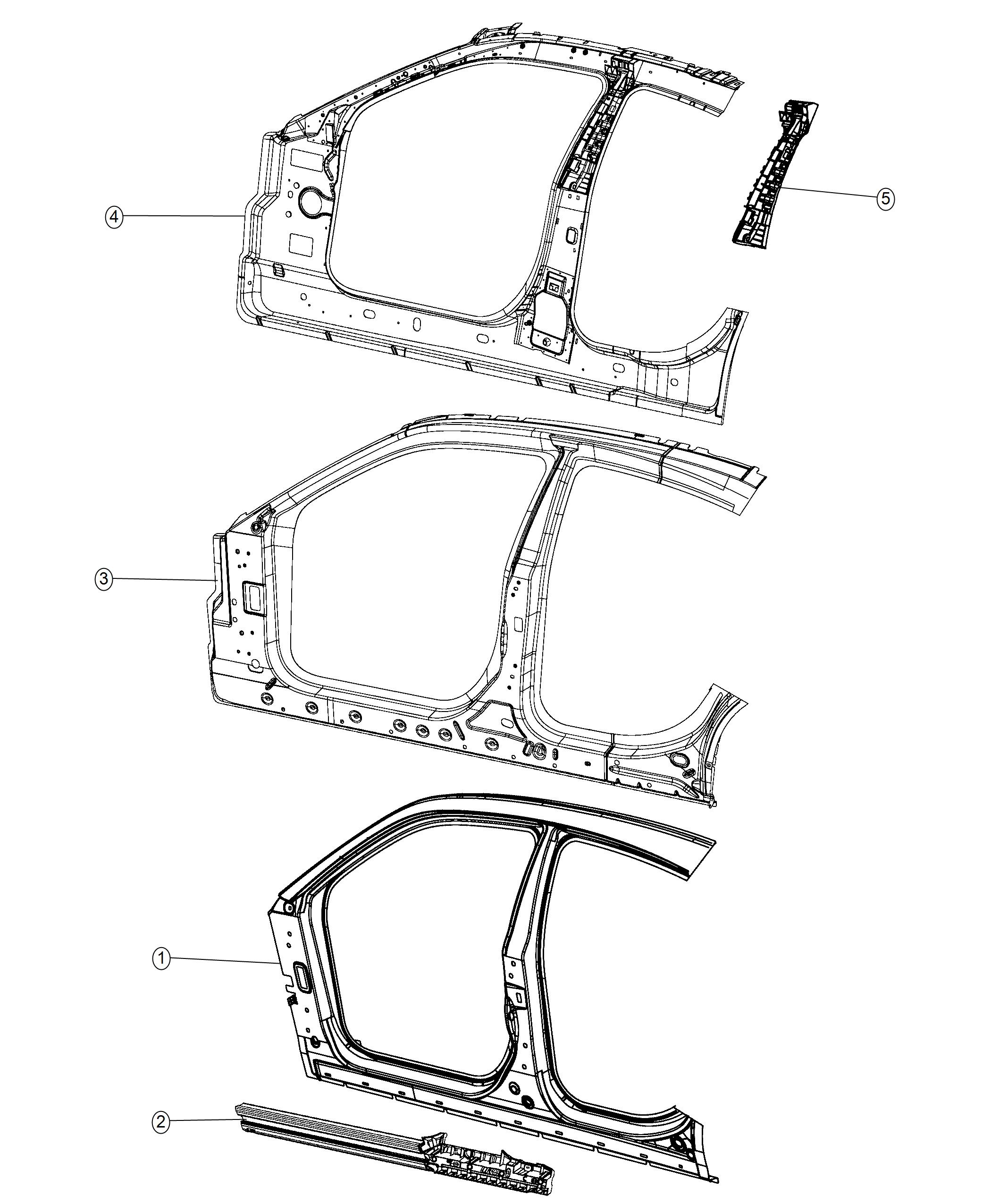 Dodge Charger Reinforcement Body Side Aperture Front