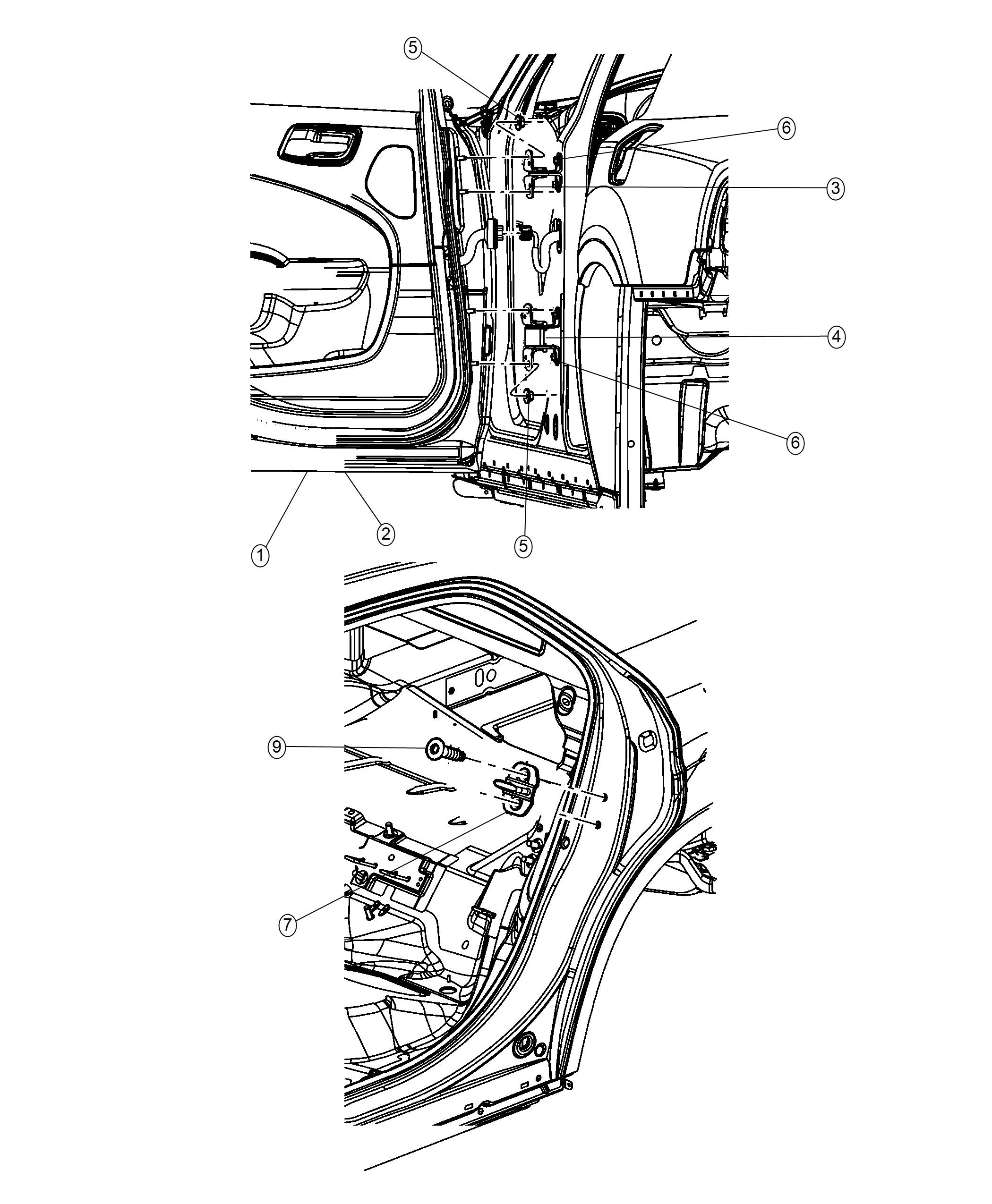 Chrysler 300 Limited 3 6l V6 Awd Door Rear Right
