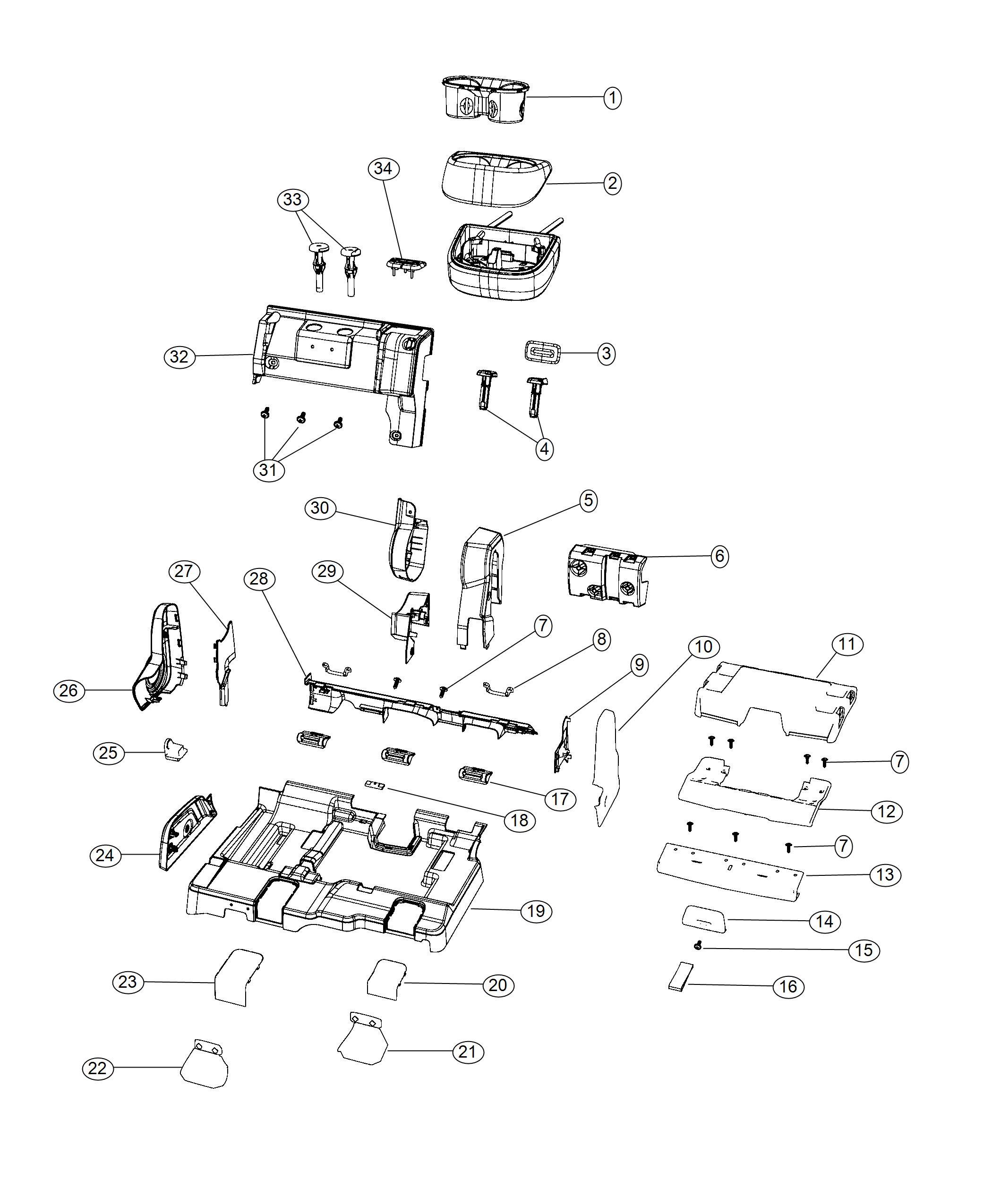 Dodge Journey Cover Seat Track Outboard Ka Trim