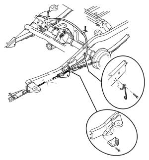 2003 Dodge Ram 3500 Tensioner Parking brake cable