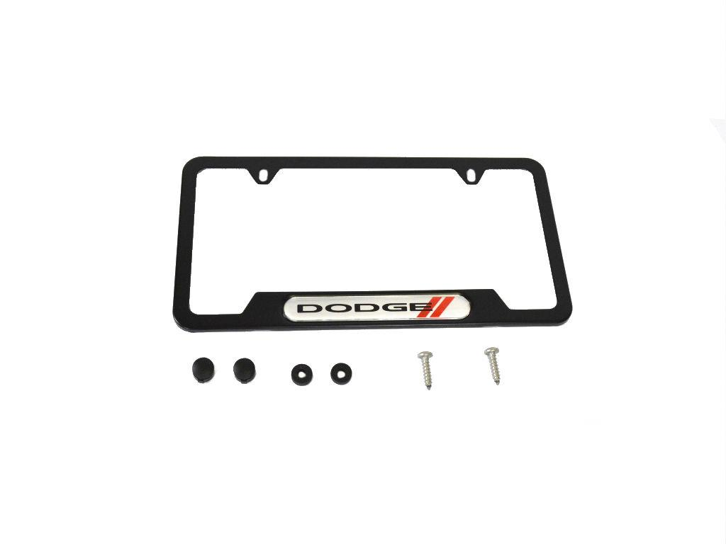 Dodge Charger License Plate Frame Stainless Steel Painted