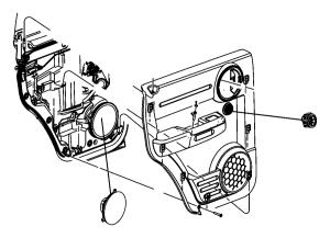 2007 Dodge Speaker Tweeter Left rear door, right rear door Trim: [all trim codes