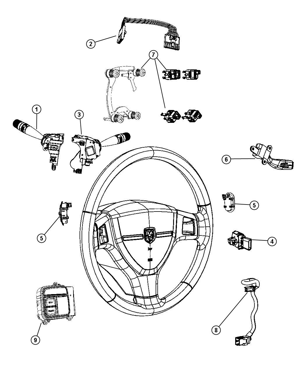Jeep Wrangler Sahara Unlimited Switch Evic Steering