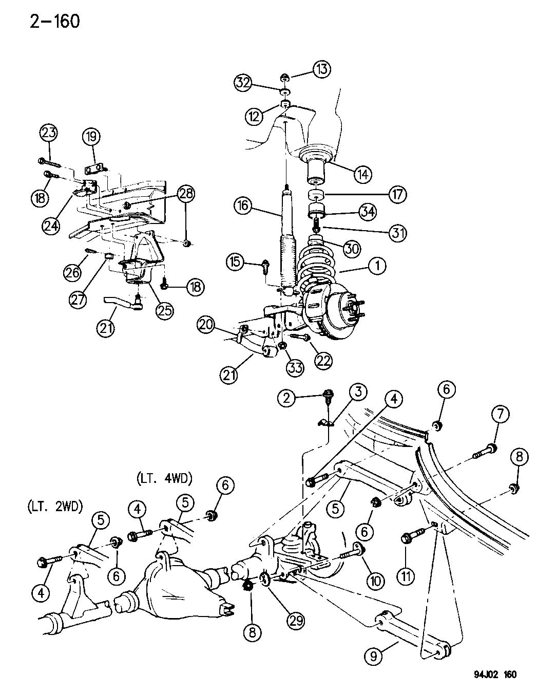 1994 Jeep Cherokee Suspension Diagram