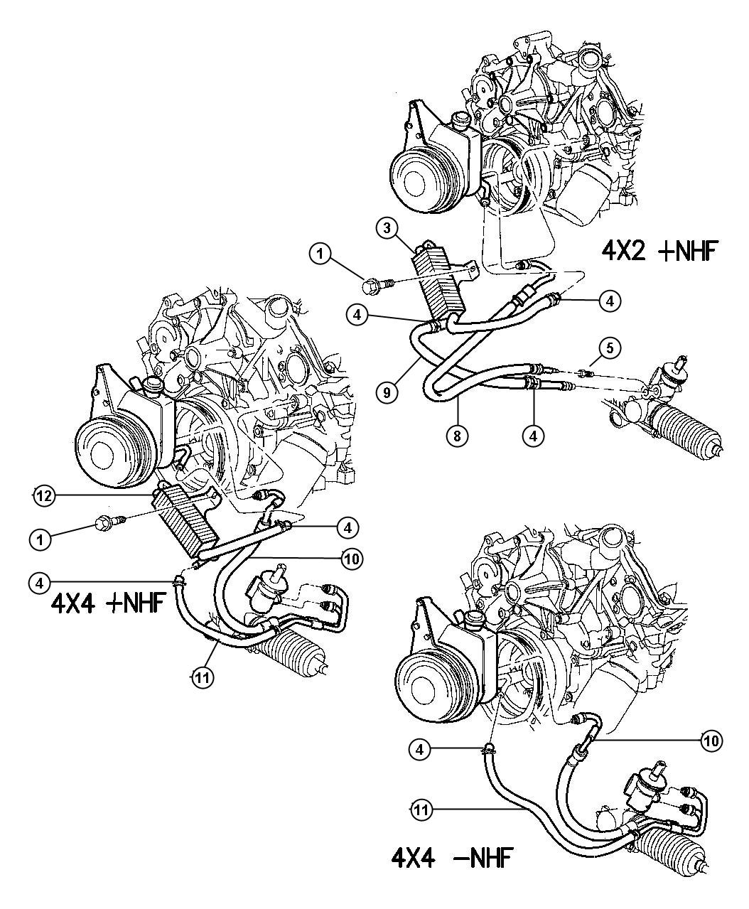 Dodge Dakota Hose Power Steering Return Valve