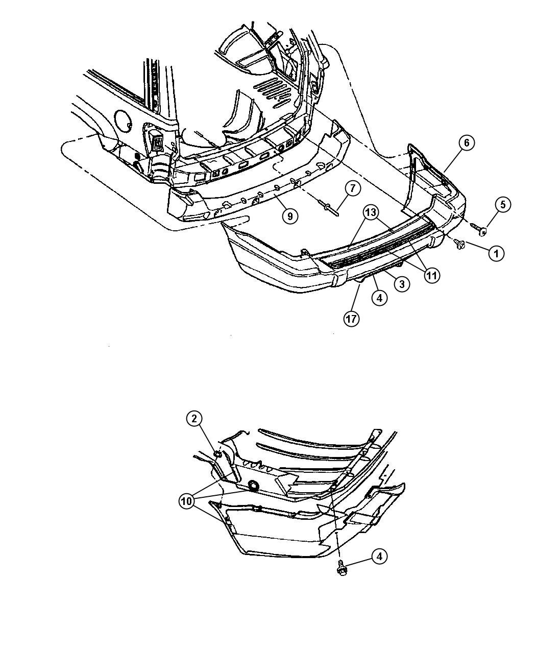 Dodge Ram Retainer Push In Type M6 3 Hole Mounting