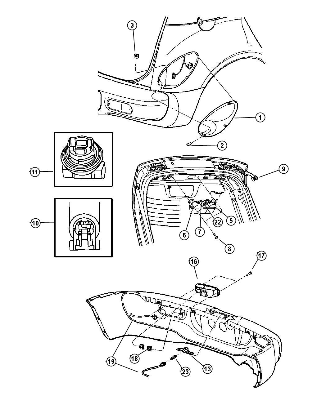 Chrysler Pacifica Clip Tail Lamp Wiring