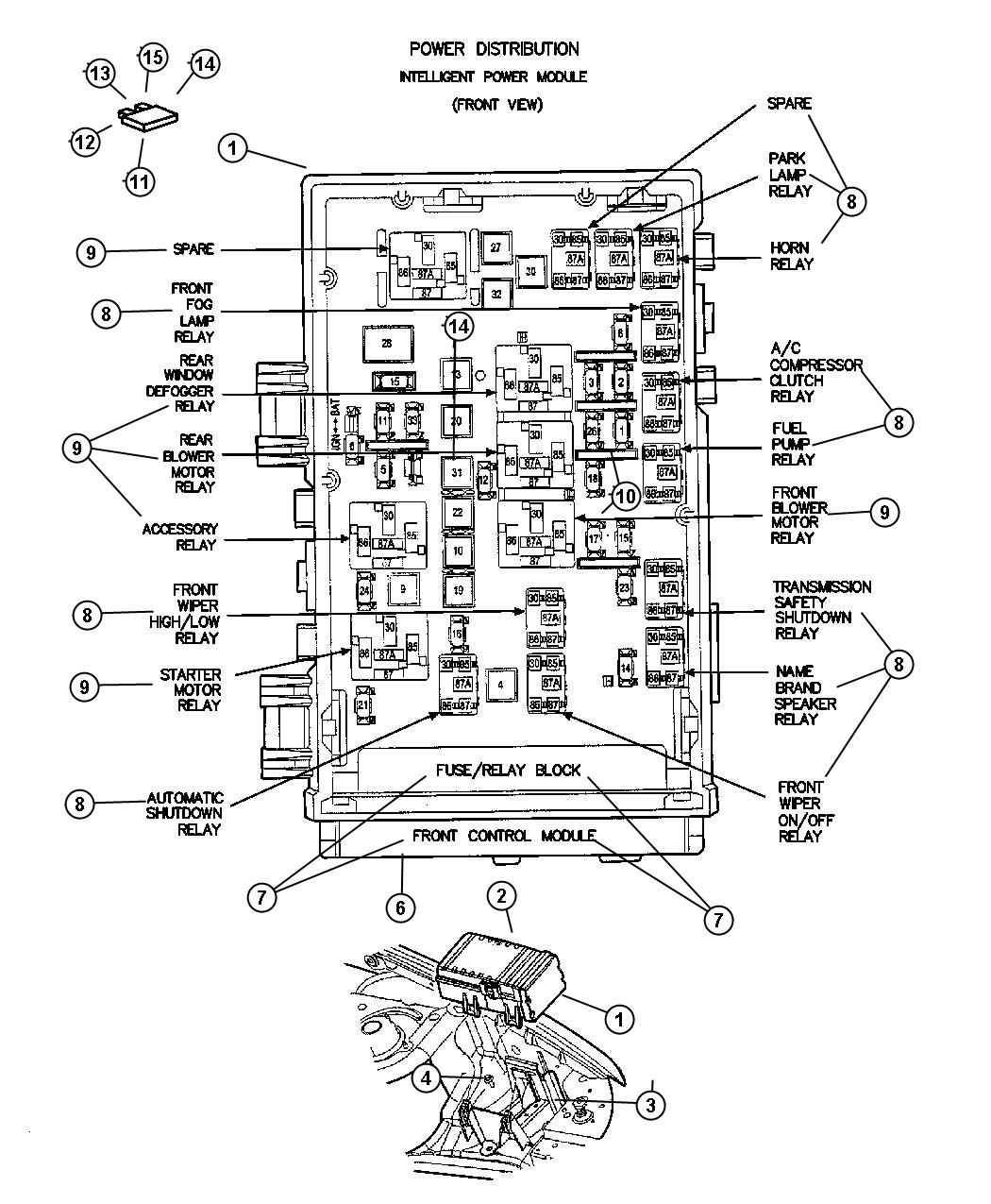 Chrysler Town Amp Country Module Front Control System