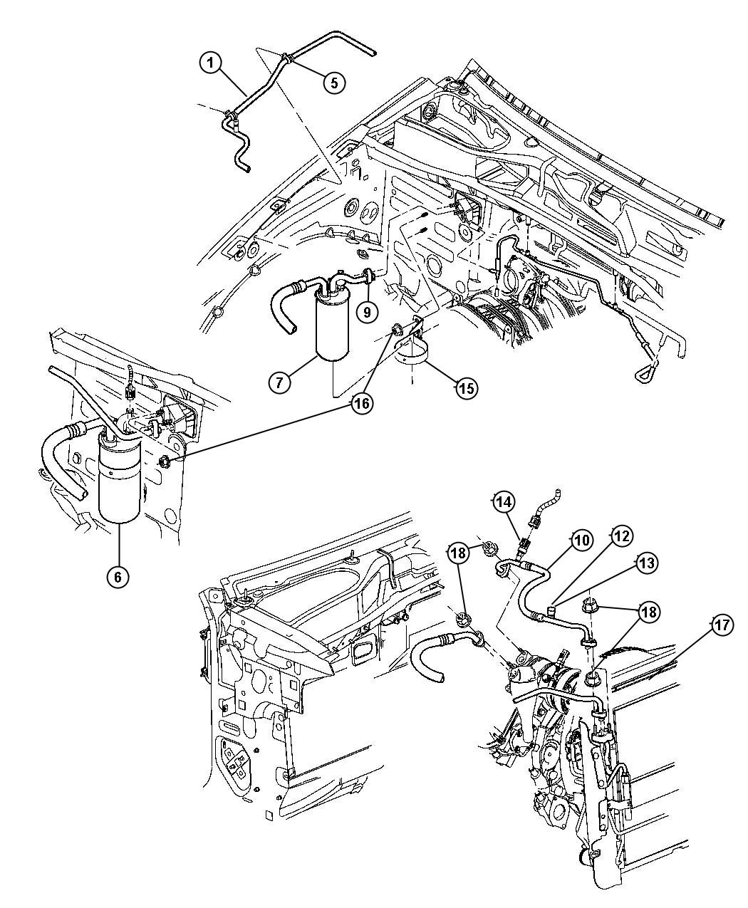 Jeep Liberty Used For Gasket And O Ring Kit A C Line