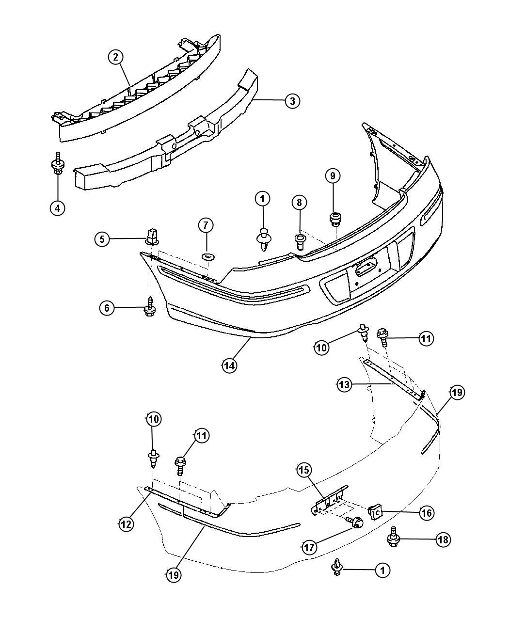 Dodge Ram Grommet Used For Front And Rear Bumper