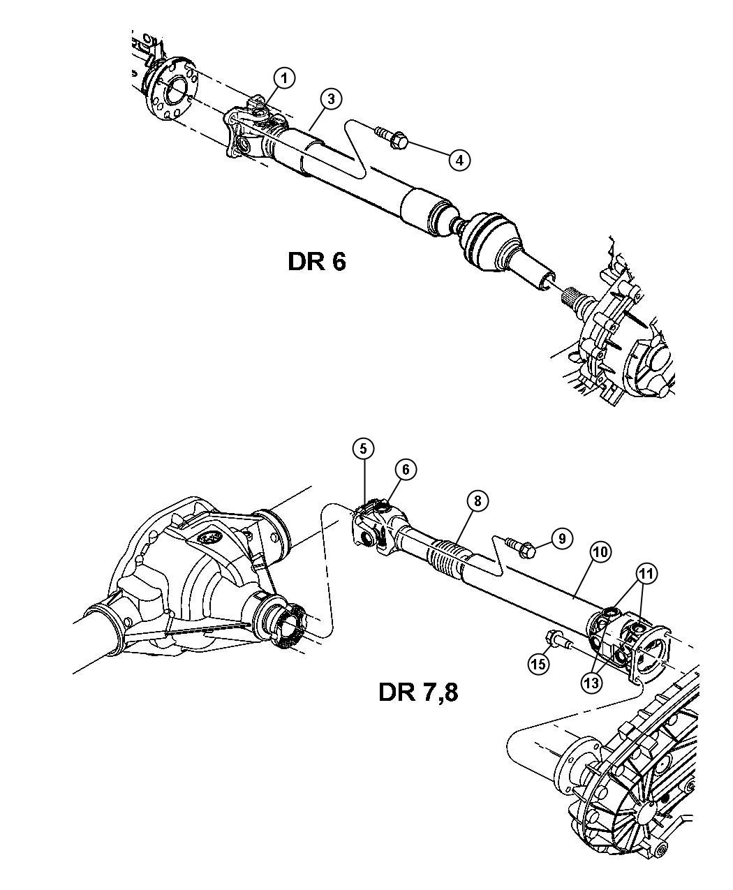 Dodge Ram Shaft Drive Front Axle Shift Transfer