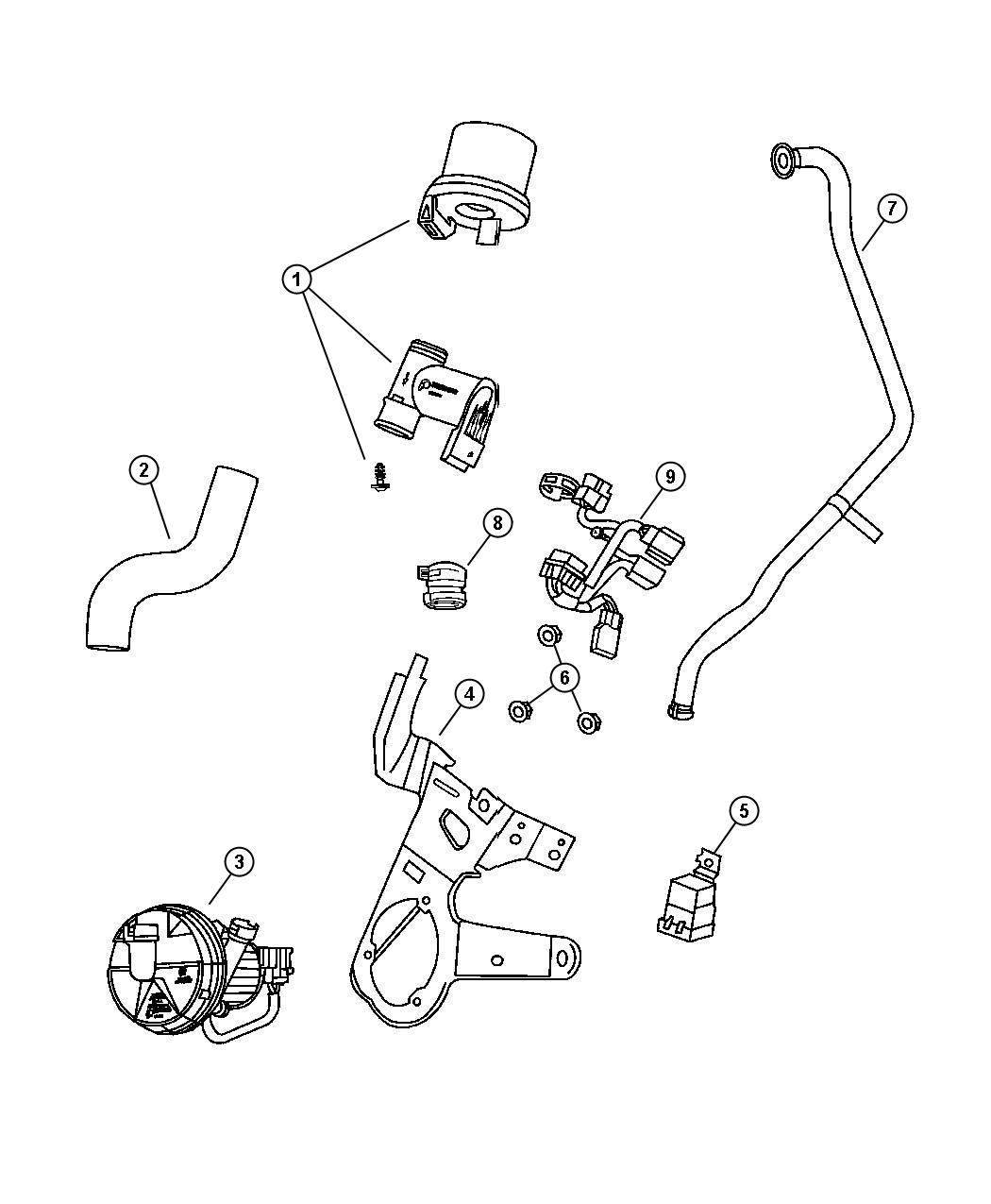 Dodge Ram Pump Air Injection Engine System