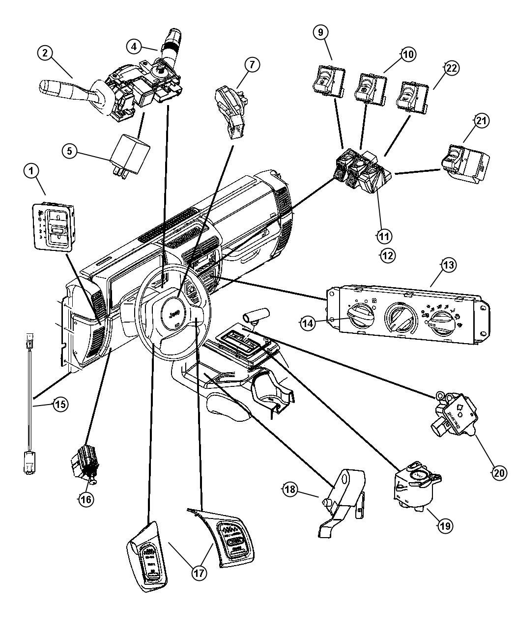 Jeep Wrangler Switch Blower Control Air Vehicles