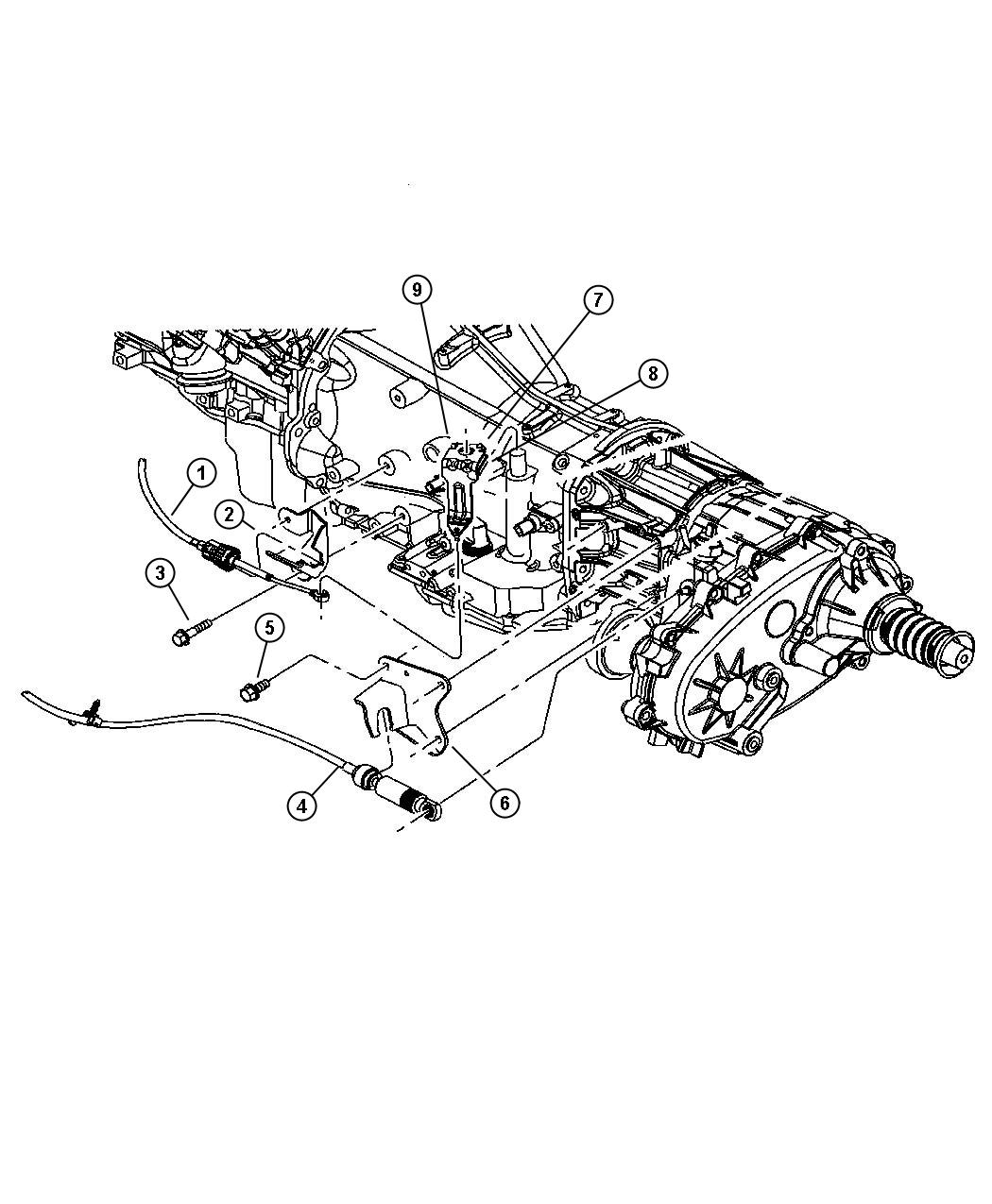 Jeep Liberty Bracket Shift Cable With Floor Mount