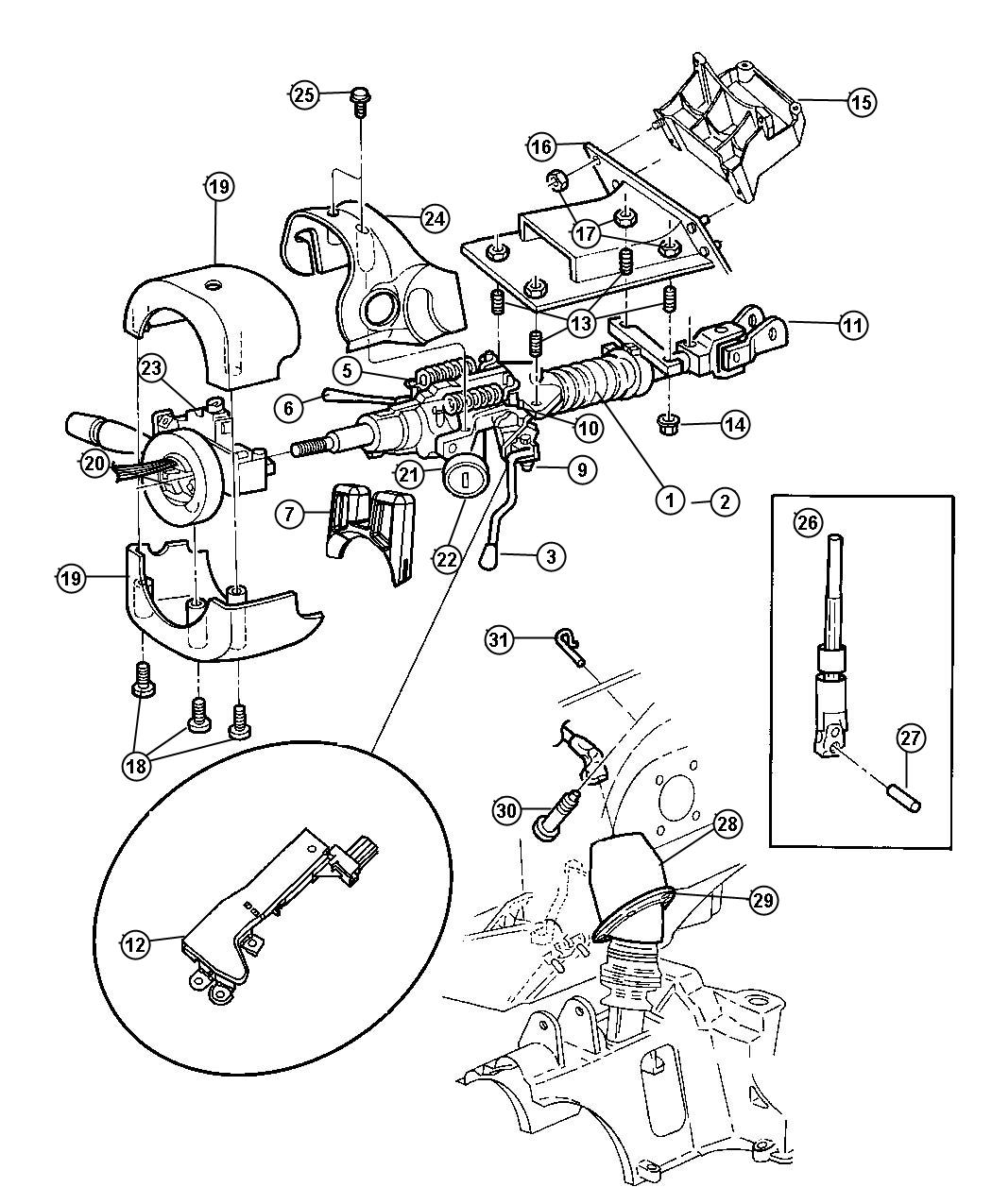 Ford Ranger Steering Column Diagram