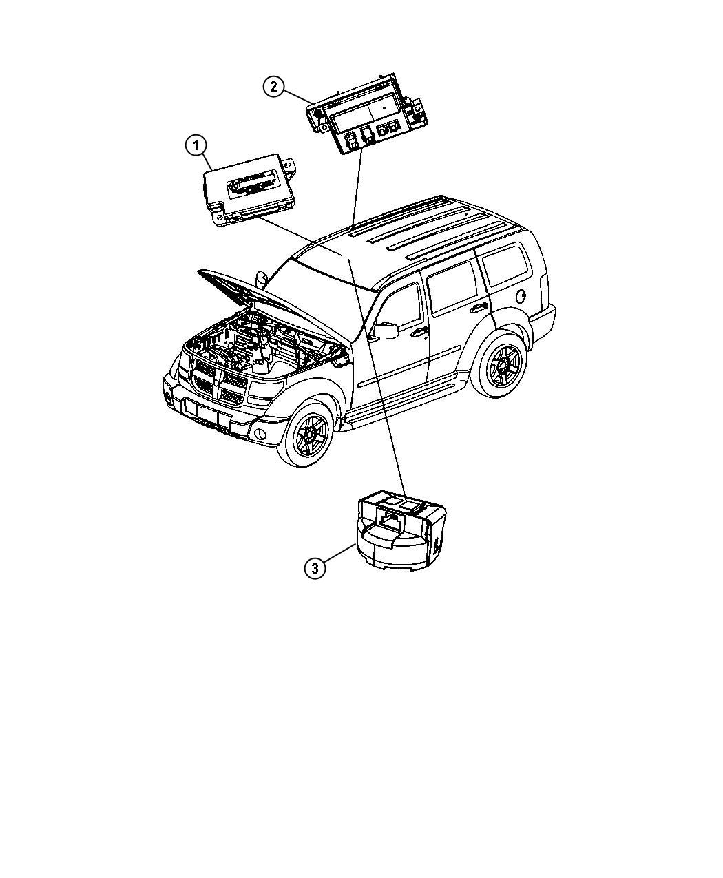 Jeep Liberty Module Full Open Roof Ecu After 07 11