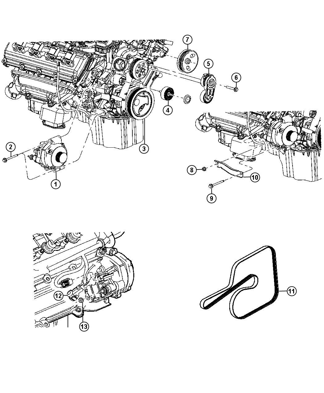 Chrysler Town Amp Country Pulley Power Steering Pump