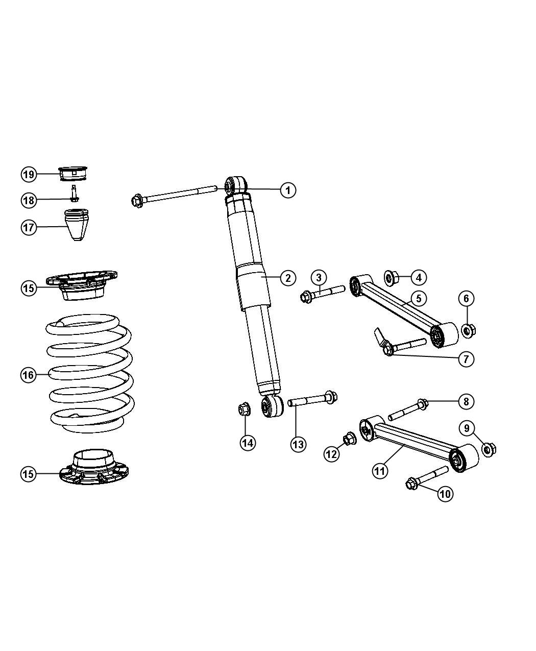 Jeep Grand Cherokee Shock Absorber Suspension Rear