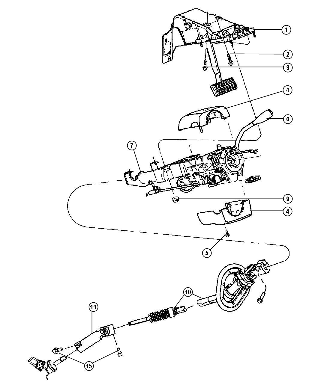 Dodge Ram Hardware Package Steering Column