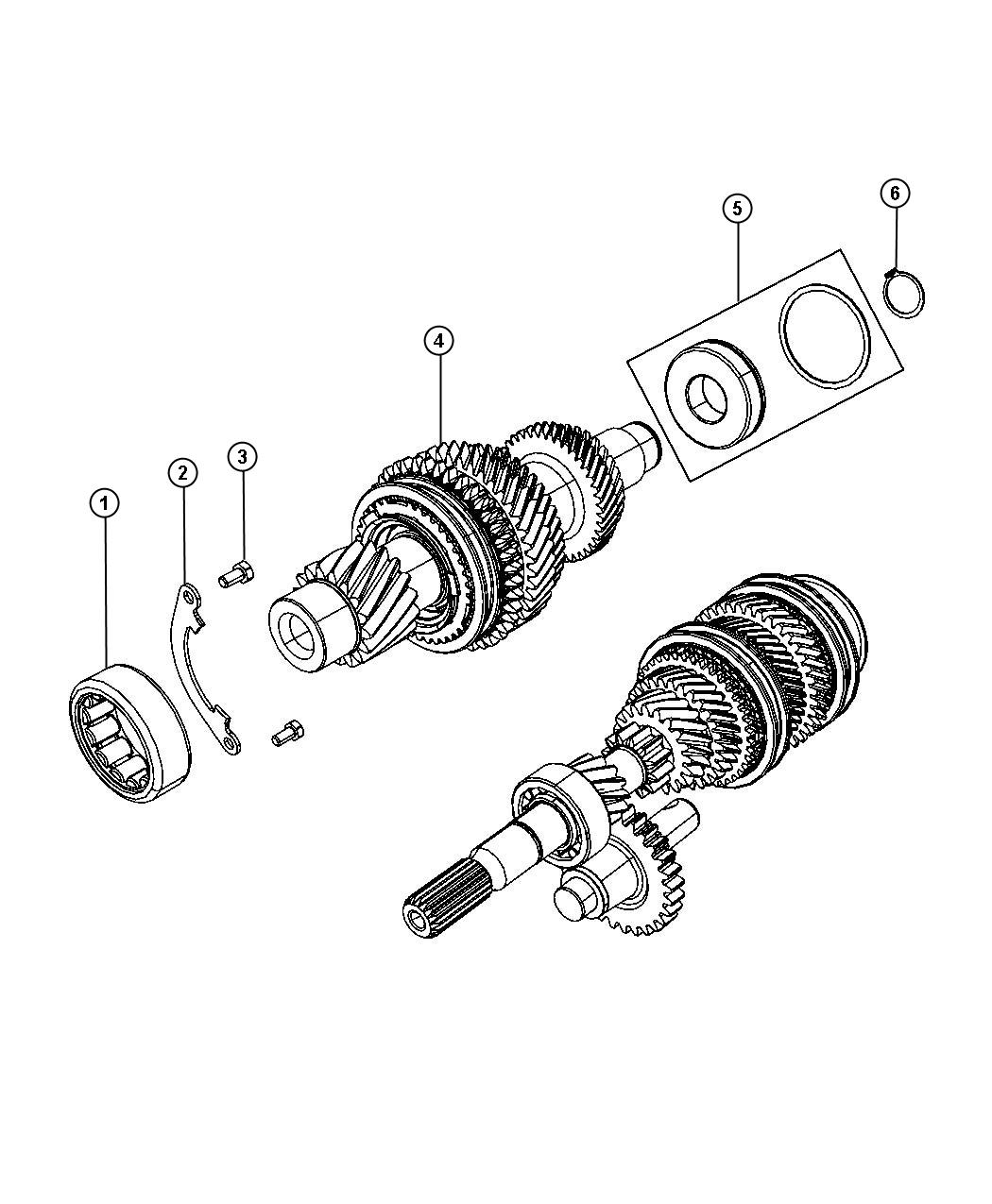Jeep Patriot Bearing Roller Train Power Module