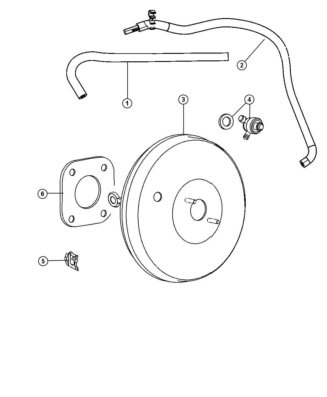 Jeep Compass Booster Power Brake Left Hand Drive Disc