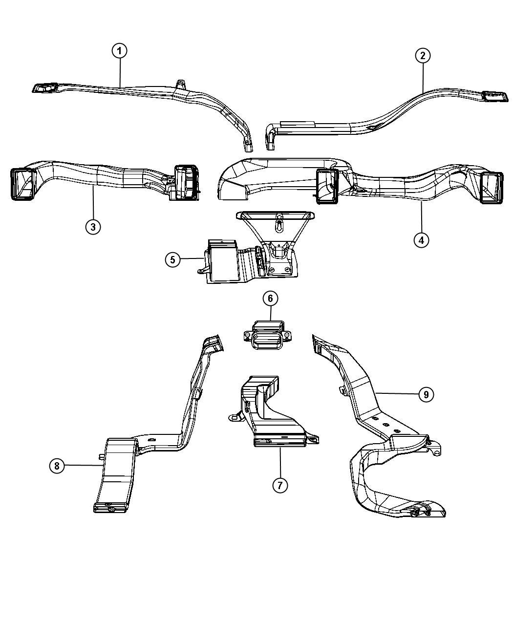 Dodge Ram Duct Center With Center Console