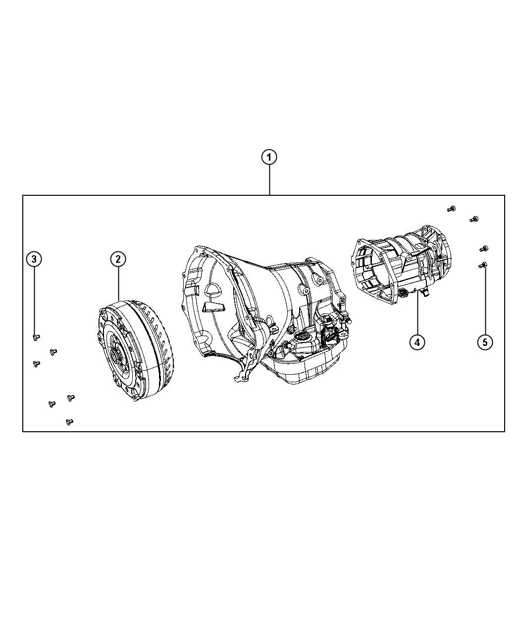 Dodge Ram Transmission Package Remanufactured With