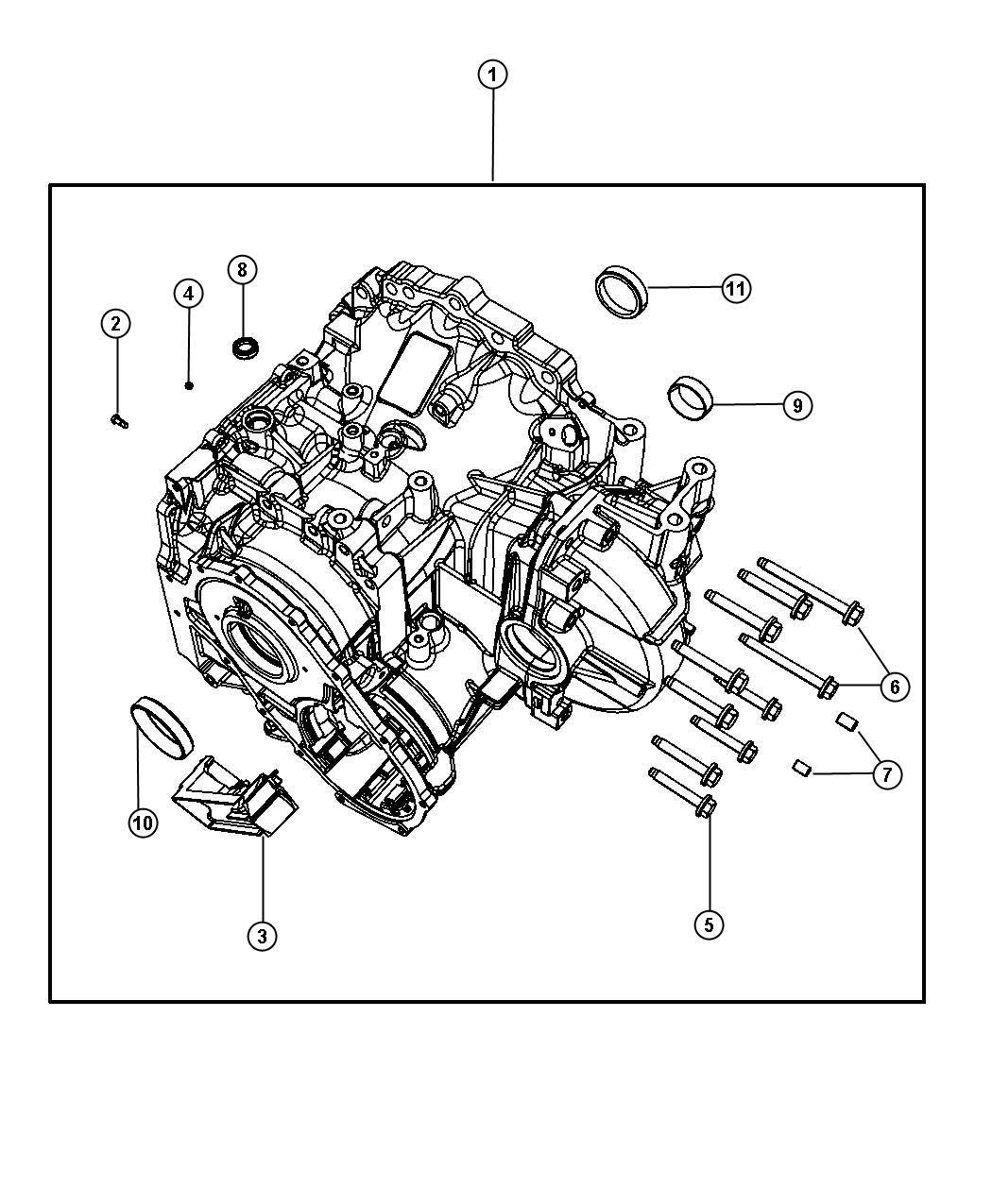 Chrysler Town Amp Country Plug Transmission Case Left And