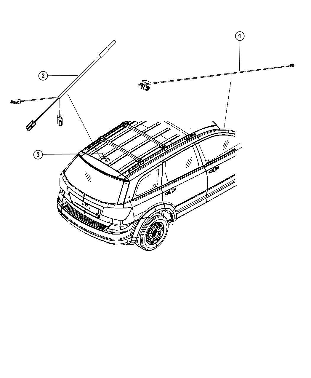 Dodge Journey Antenna Used For Base Cable And Bracket
