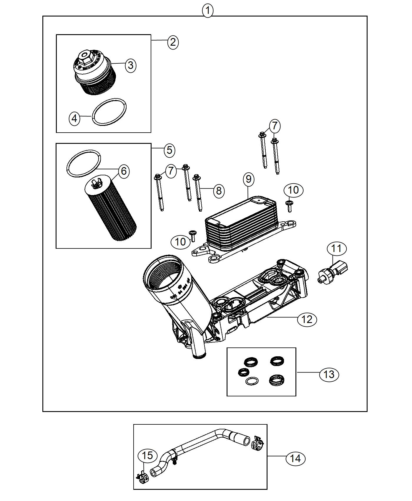 Jeep Wrangler Adapter Engine Oil Filter Adapter