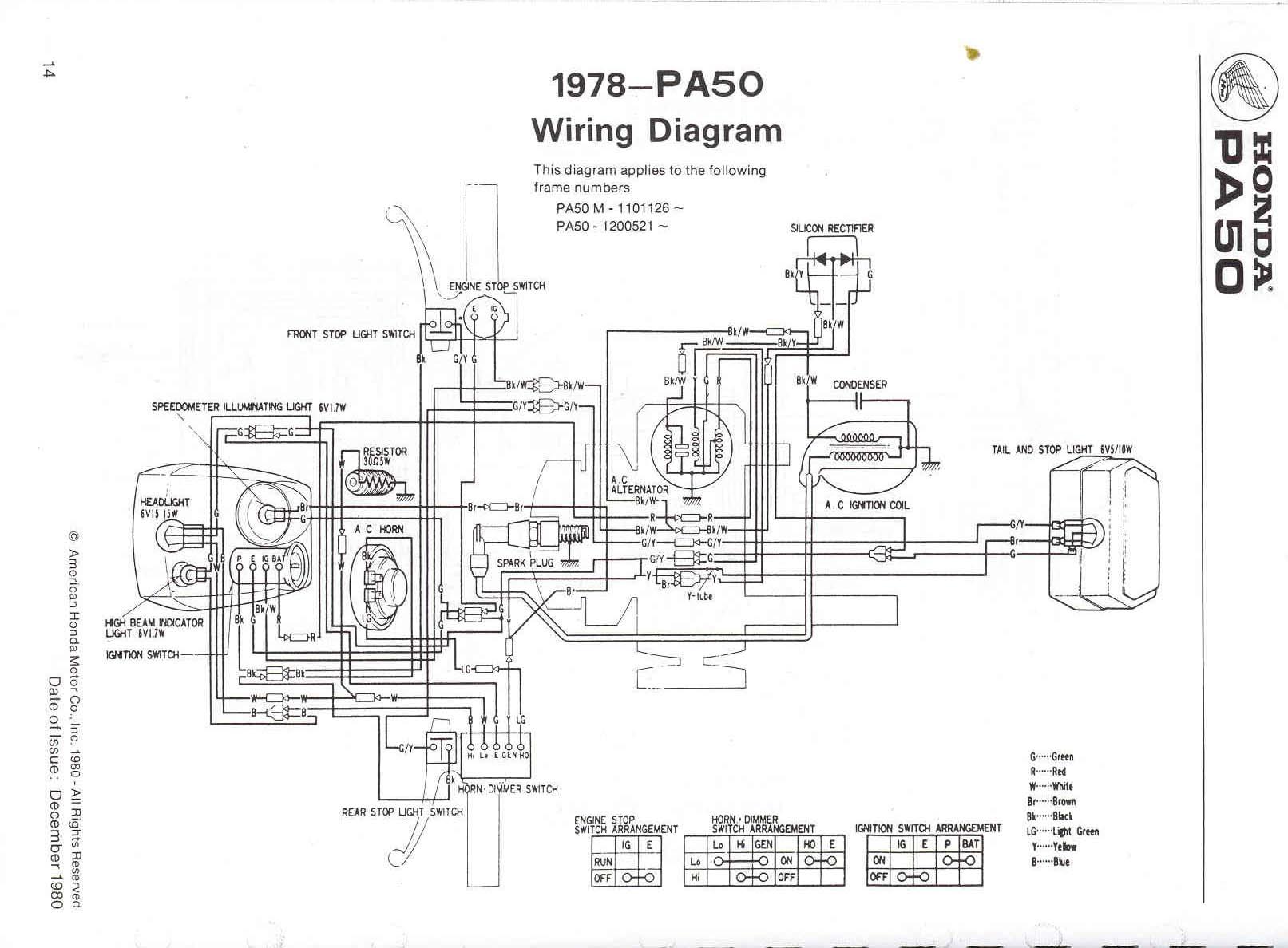 Re Wiring Diagram Honda Pa 50