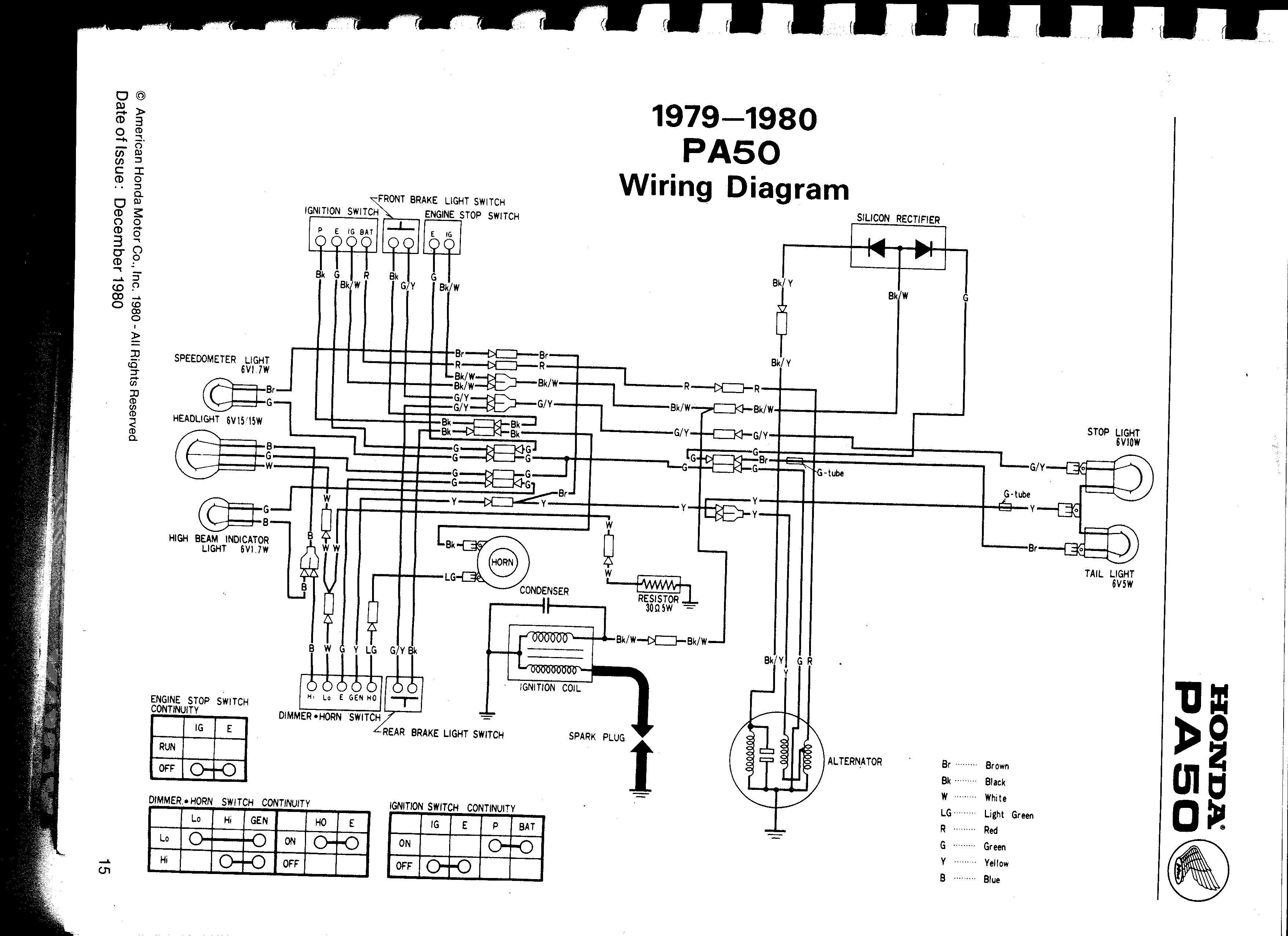 Re Wiring Diagram Honda Pa 50