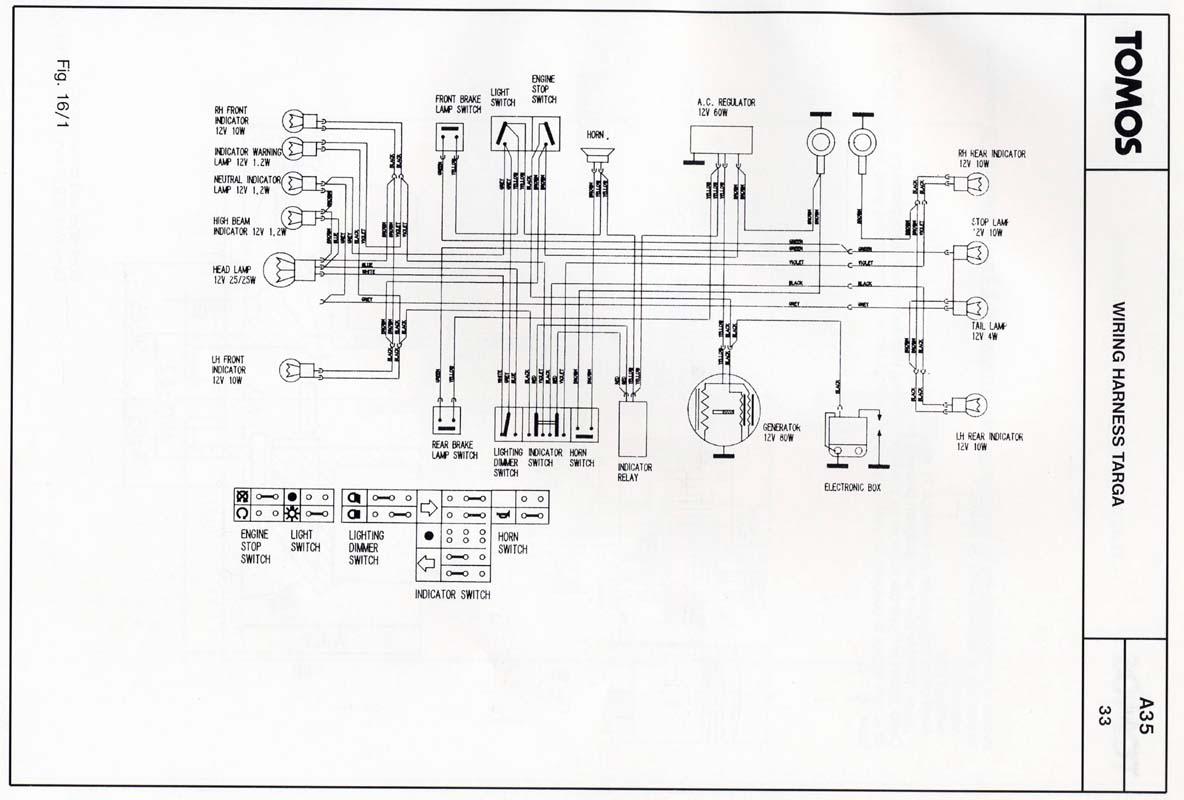 tomos wiring diagram
