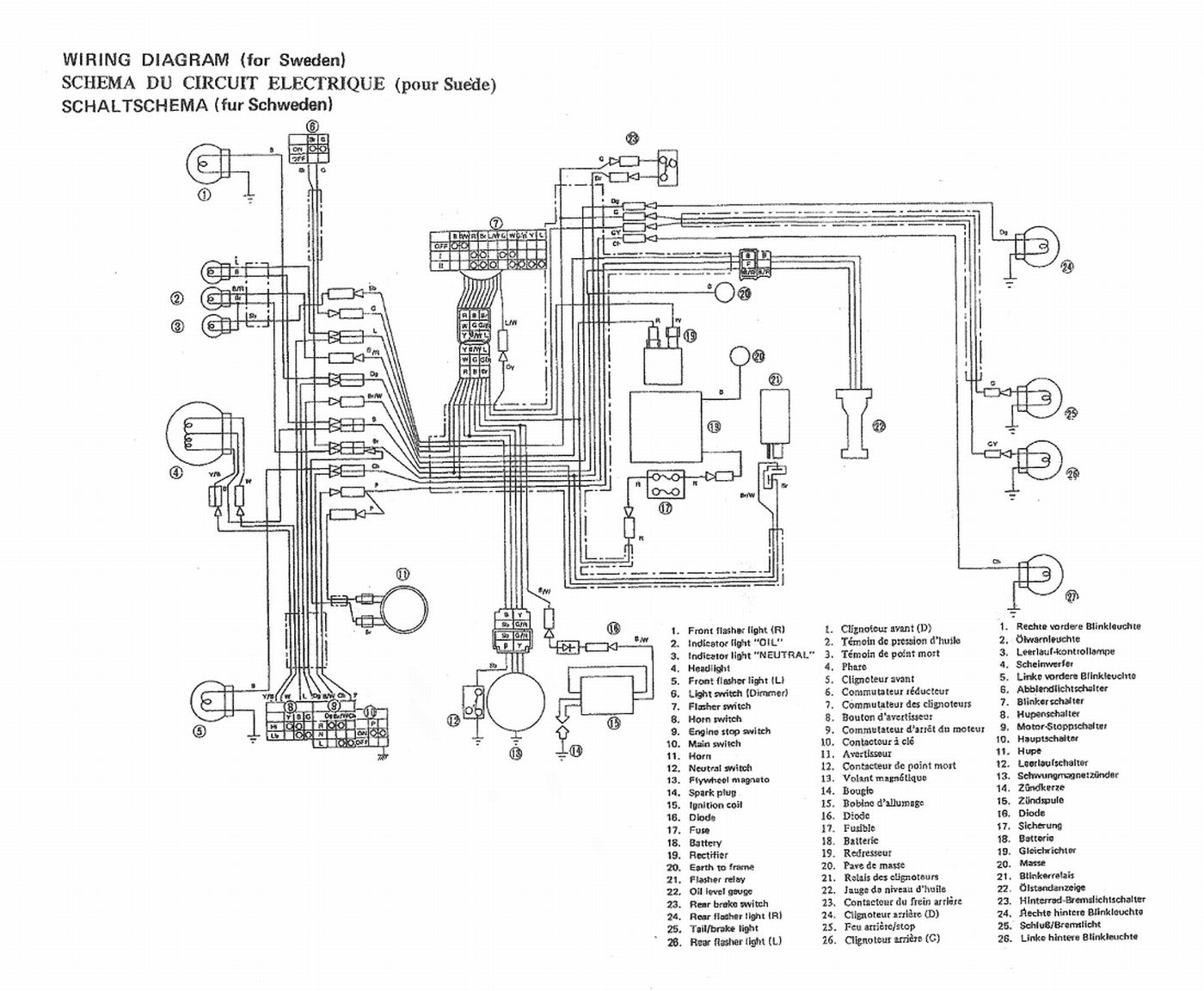 Yamaha Wiring Diagrams Diagnose Motorcycle And Moped