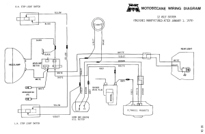 Motobecane wiring diagrams  Moped Wiki