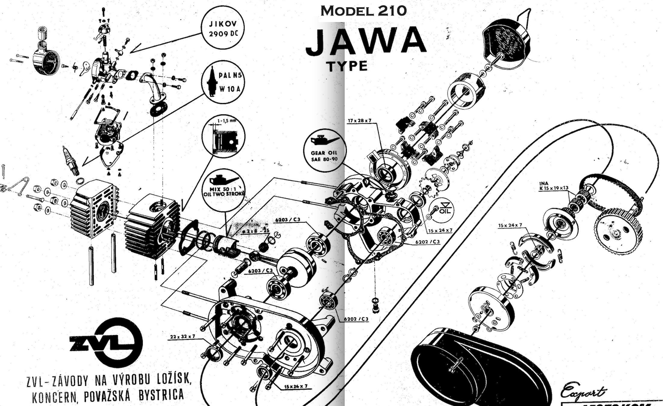 Jawa Wiring Diagram