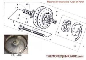 Motobecane Front Hub Ref Diagram MB11a