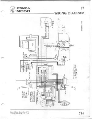 Re: NC50 Wiring Diagram — Moped Army