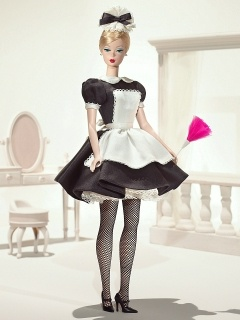 "Mattel ""celebrates the working woman"" with ""French Maid Barbie"""