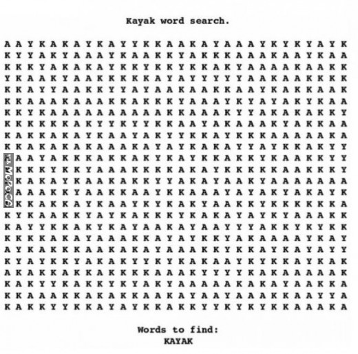 Kayak word search. Can you find it?