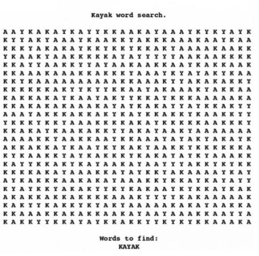kayak-word-search
